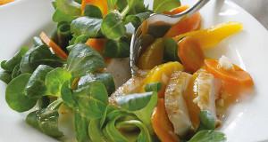 Histaminarm: Feldsalat mit Mango und Pute